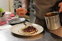 écrasé de pomme de terre à la tartufata et rognons