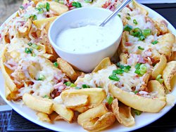 Sharing Loaded Potato Dippers