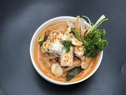 Cobia  fish in noodle TOM-YUM  ก๋วยเตี๋ยวต้มยำปลาข่อนทะเล