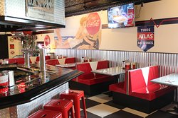 Recently updated flooring and booths!
