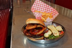 All the barbeque staples you'd expect from a classic American diner!