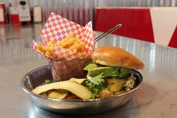 Southwestern burger for a local twist on the classics!