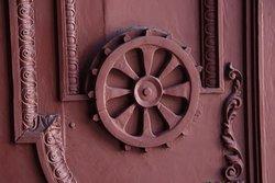 Ornate details of inner doors