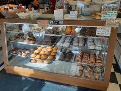 Donut, muffins, Cinnamon Twirls, Marble Twists, Coconut Twists, Apple Turnover case!