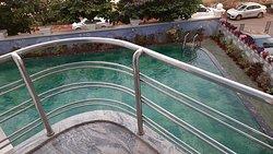swimming pool overseeing balcony