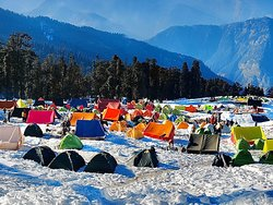 Base camp for Kedarkantha Trek by RS