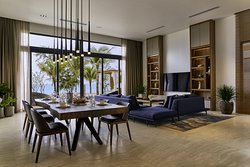 Living room and dining room  in Beachfront Villa