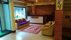 Reception area of Mystic Rodhi Resort at Drajeeling