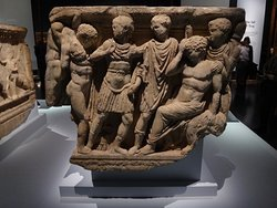 Achilles at Troy with the death of his dear friend Patrochus. This is from a Roman sarcophagus found in Ephesus and dated to the third century AD