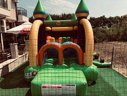 Bounce castle. Free children's playground.