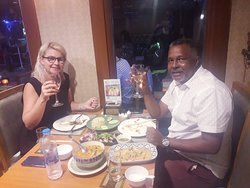 Our Guest Enjoying the Our Thai Food