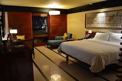 Bed from inside doorway