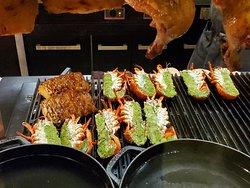 Grilled Lobster Rockefeller