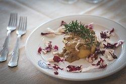 polenta con crema di porcini