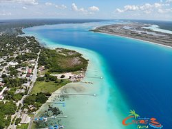 Vista aérea Laguna de Bacalar