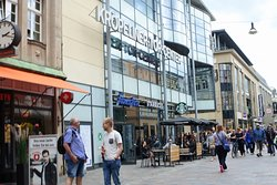 The shopping centre's entrance