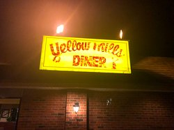Yellow Mills Diner - sign in front