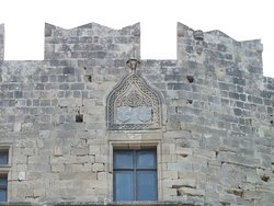 remains of the Hospitaller fortress - with sigils of the order of St. John