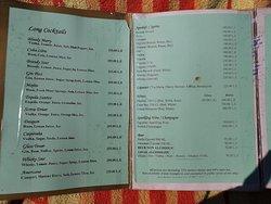 Drinks menu MS TiYi 2