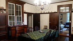 Breakfast is served in this spacious dining room - part of the 1869 addition to Mountain Home.