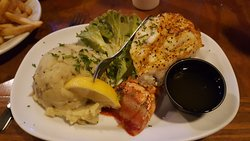 Affordable Lobster Tail with mashed potatoes.