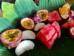 Seasonal Fresh fruit serve daily on our breakfast  buffet
