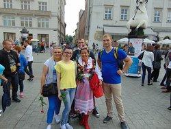 Na rynku krakowskim z sympatycznymi Gośćmi