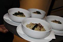 Pre principal de risotto al funghi, en nuestros eventos.