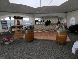 Wedding ceremony inside our event tent