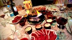 Sequência de fondue perfeita