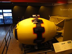 Fat Man atomic bomb at the Flying Heritage & Combat Armour Museum