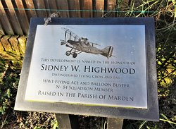 7.  Marden War Memorial;  The area opposite the library dedicated to Sidney W Hubbard