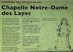 Chapelle Notre-Dame des Layes - L'histoire racontée...