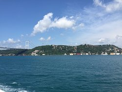 Asia from Europe view from the Boat trip Bosporus Strait