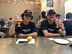 Our beertenders enjoy their time off.