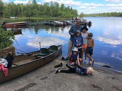 Returning from a Boundary Waters canoe trip with the family. Fun times camping and paddling.
