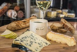 Cheese paired with a beautiful selection of wines