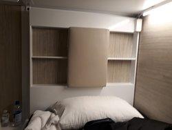 Detalhe de uma das camas.