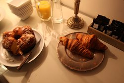 Pastries served at the B&B