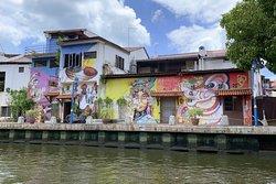 馬六甲河畔壁畫