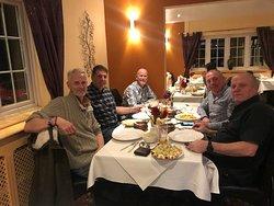 Enjoying a great dinner