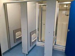 Each Portakabin has 3 exceptional showers.