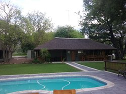 Beautiful kept gardens.  The pool was sparkling clean and just what we needed after a long day on safari.