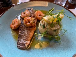 Delicious sea bass.