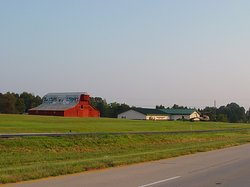 View of the Museum and barn