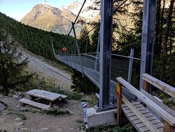 Hiked up from Randa, crossed this longest bridge and carried on along the mountain trails to Zermatt.