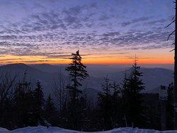 Lysá Hora 1323m.n.m. 🏔 zimni východy, západy, výhledy