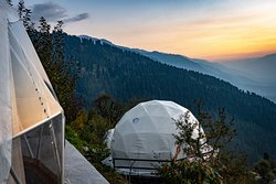 View from Geodesic domes in Summer