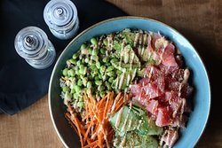 Our tuna Power bowl is BACK! A perfect meal for any time of day✨