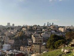 A beautiful view far away from Jabal Amman and Abdali in the Jordanian capital Amman